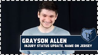 Grayson Allen delivers injury status update, excitement to return this season