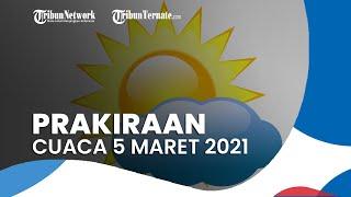 Prakiraan Cuaca Jumat 5 Maret 2021, BMKG Memprediksi 25 Wilayah Berpotensi Alami Hujan Lebat