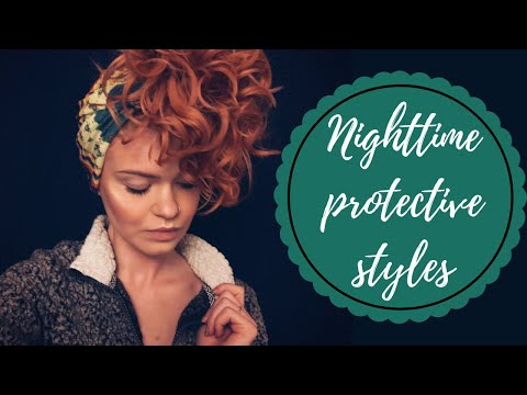 How I Wear My Curly Hair To Bed | Nighttime Protective Styles