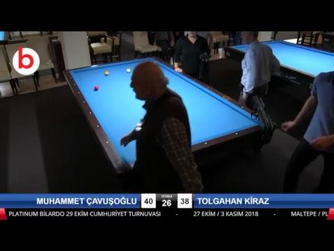 MUHAMMET ÇAVUŞOĞLU & TOLGAHAN KİRAZ Bilardo Maçı - PLATINUM BİLARDO - 2018 CUMHURİYET TURNUVASI-Yari Final