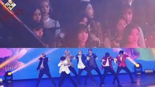 20181128 Twice's Reaction To BTS   IDOL @AAA