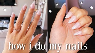 How Im Doing My Own Nails At Home | DIY Fake Nails!