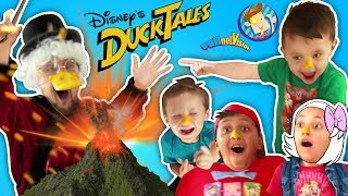 DUCKTALES VOLCANO SCIENCE EXPERIMENT Prank on SCROOGE McDUCK FUNnel Vision Skit