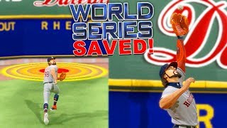 MY BEST CATCH EVER SAVED THE WORLD SERIES! MLB The Show 20 | Road To The Show Gameplay #58