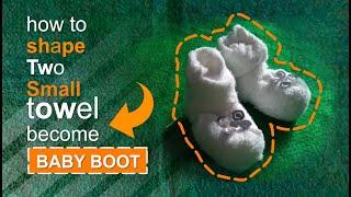NEW BORN BABY BOOT - TOWEL DESIGN