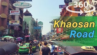 khaosan Road in Bangkok in Thailand VR | 360 Video