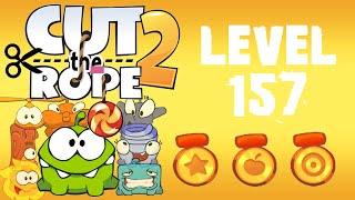 Cut the Rope 2 - Level 157 (3 stars, 61 fruits, 2 stars + cut 2 ropes)