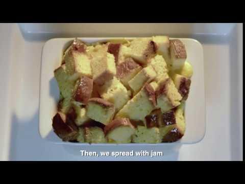 طريقة عمل بودينج الفراولة مع كريمة الخفق من بوك   Strawberry pudding recipe with Puck Thick Cream