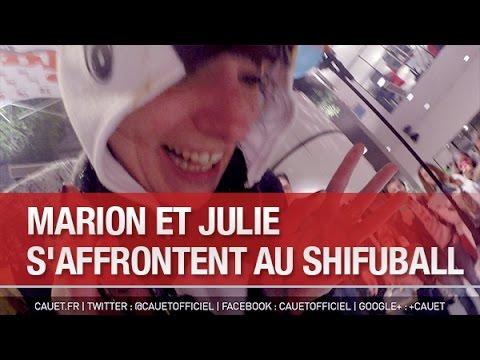 Marion et Julie s'affrontent au Shi-Fu-Ball à l'accueil de NRJ - C'Cauet sur NRJ