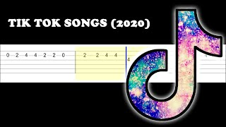 BEST TIK TOK SONGS (2020) (Easy Guitar Tabs Tutorial)