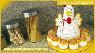Galinha de Crochê Porta Ovos