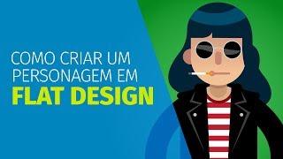 Como Criar Um Personagem Em FLAT DESIGN No Illustrator