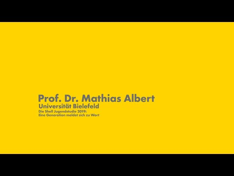 Shell Jugendstudie 2019: Prof. Mathias Albert