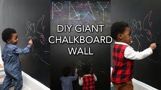Renter Friendly Chalkboard Wall In Under 30 Minutes!