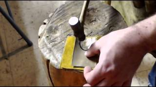 Forming Sheet Brass with Hammer and Stump (Shrinking, Sinking, Dishing)