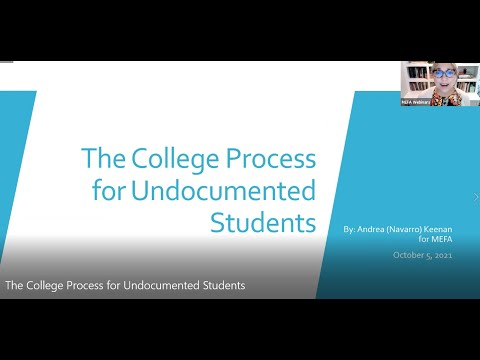 The College Process for Undocumented Students