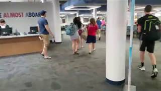 Galveston - Inside the Carnival Cruise Terminal