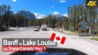 Driving from Banff to Lake Louise through the Canadian Rocky Mountains 🇨🇦