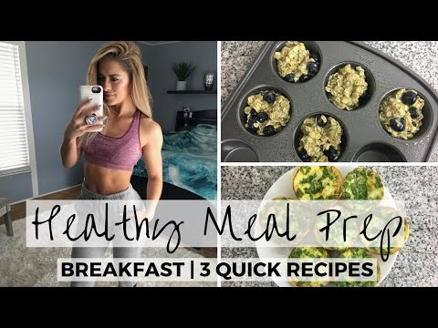 Video 3 Simple & Easy Breakfast Meal Prep Recipes For The Week