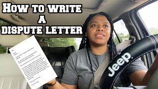 HOW TO WRITE A DISPUTE LETTER + TIPS ‼️ | CREDIT REPAIR | LifeWithMC