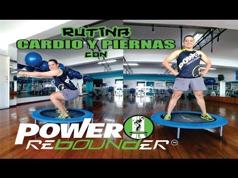 RUTINA CARDIO Y PIERNAS EN MINI-TRAMPOLIN CON POWER REBOUNDER