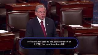 Menendez Speaks Ahead of Senate Debate on New Iran Sanctions Bill