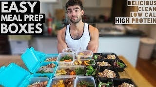 EASY Low Calorie Meal Prep Boxes | HIGH PROTEIN FAT LOSS MEALS