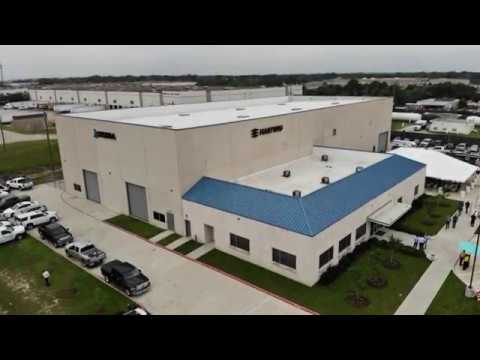 Aerial Tour of the Hartwig Okuma Tech Center in Houston, TX