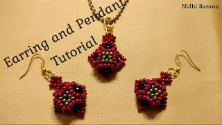 DIY   Seed Bead Earring And Pendant   (0021)