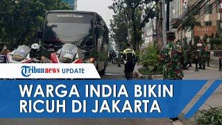 Puluhan Warga India Bikin Ricuh di Kawasan Hotel Menteng, TNI dan Polri Turun Tangan Langsung