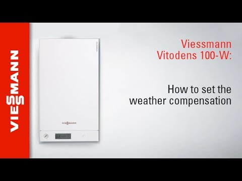 Viessmann Vitodens 100-W tutorial 2: How to set weather compensation on a Vitodens 100-W boiler