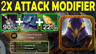 90% DMG Glaives Of Wisdom + 22% DMG Impetus =112% Pure DMG MAGIC Ability Draft Dota 2