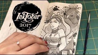 Inktober Sketchbook Tour | PokéHalloween 2017