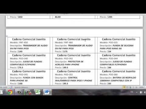 Imprimir Etiquetas en Word mediante un archivo de Excel