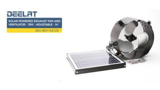 Solar Powered Exhaust Fan and Ventilator - 15W - Adustable - 14