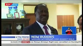 Governor Waiguru, Raila bury the hatchet as she withdraws defamation case