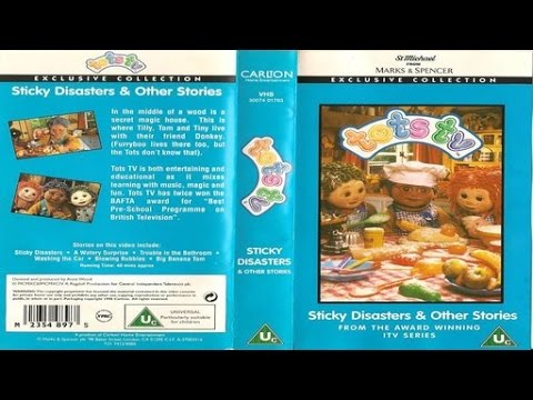Tots TV: Sticky Disasters & other stories (1999 VHS)