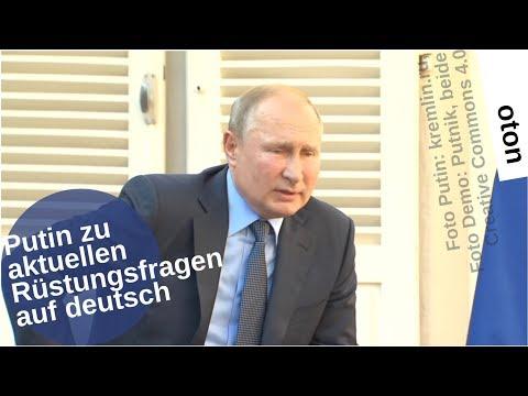 Putin zu aktuellen Rüstungsfragen auf deutsch [Video]