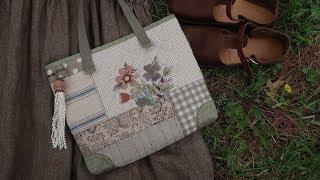 퀼트가방 만들기 │ Patchwork Embroidery Quilted Bag │ How To  Make DIY Crafts Tutorial