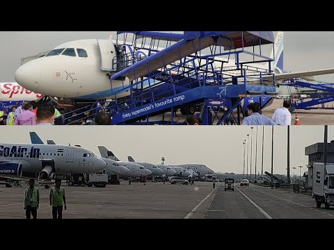 bus ride: plane to Terminal 2 [T2] | Indira Gandhi international airport New Delhi India