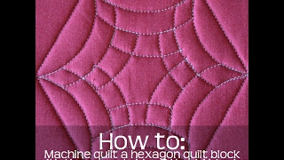 How To Machine Quilt A Hexagon Quilt Block With A Curved Ruler