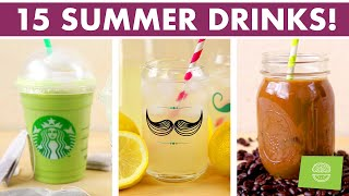 Healthy Summer Drinks Stop Motion Compilation - 15 Refreshing Drinks!