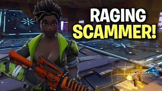 Angry scammer rages super HARD at me! 😂 (Scammer Get Scammed) Fortnite Save The World