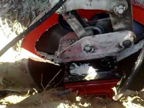 GTS Diamond Saw in Action on 2.8 ton Mini Excavator