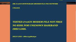 J730f Modem Downgrade File