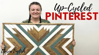 Up-cycled Pinterest Episode #1 | Wood Wall Art Quilt | Pinterest Inspired | Boho Decor Diy