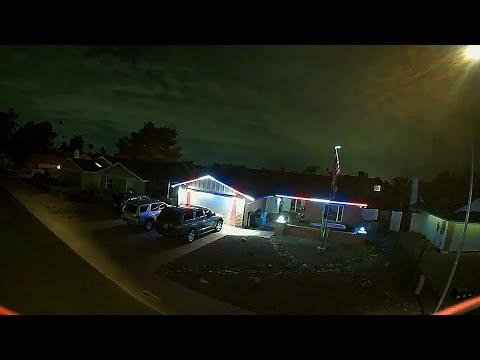 Geprc Cinelog30 HD - God Bless The USA Labor Day Neighborhood Patriotic Lights & Flags
