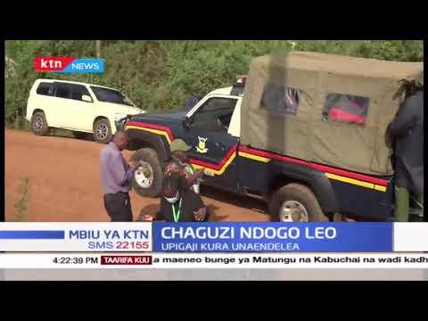 Polisi wamkamata mgombea wa UDA Moses Nyandusi wakati wa uchaguzi mdogo katika wadi ya Kiamokama
