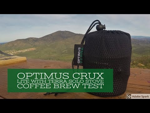 Optimus Crux Lite With Terra Solo Stove Coffee Brew Test