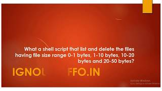 What a shell script that list and delete the files having file size range 0-1 bytes, 1-10 bytes, 10-
